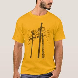 elektriska kraftledningar t shirt