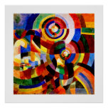 Elektriska prismor - abstrakt konst för vintage vi posters