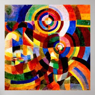 Elektriska prismor av Sonia Delaunay Poster
