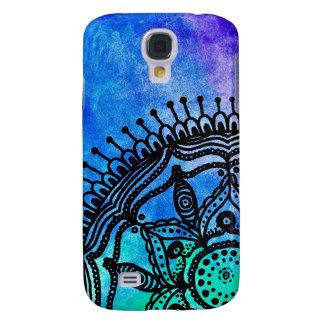 Elektriskt fodral för vattenfärgMandalaSamsung gal Galaxy S4 Fodral