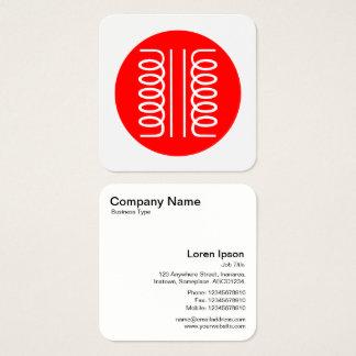 Elektriskt rött transformatorsymbol - och vit fyrkantigt visitkort