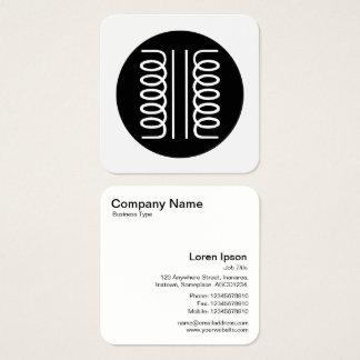 Elektriskt svartvitt transformatorsymbol - fyrkantigt visitkort
