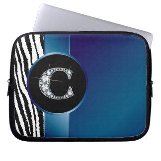 """Elektronik för band för rand för c-""""diamant"""" sebra laptop sleeve"""