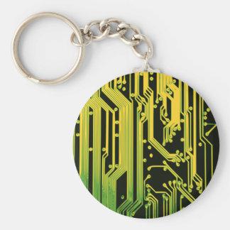 elektroniskt gå runt motiv rund nyckelring