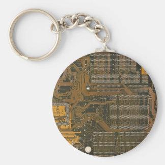 elektroniskt gå runt stiger ombord rund nyckelring