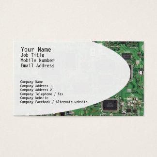 Elektroniskt går runt visitkorten visitkort