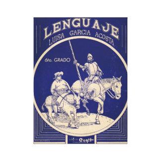 Elementär grammatisk text för spanskt språk canvastryck