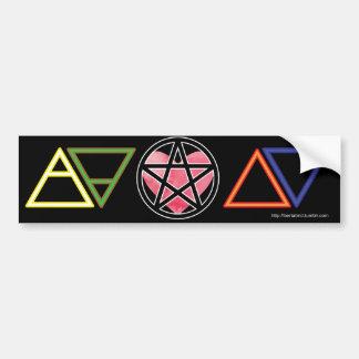 Elementära symboler med hjärta och pentaclen bildekal