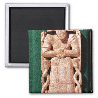 Elfenbenplaquette av en gud magnet