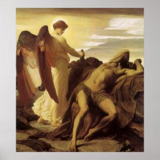 Elijah i vildmark av Lord Frederic Leighton Poster