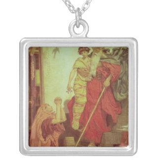 Elijah som återställer änka Son, 1868 Silverpläterat Halsband