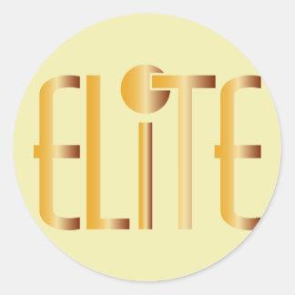 Elit - elitiskt ordstäv för popmodesymbol runt klistermärke