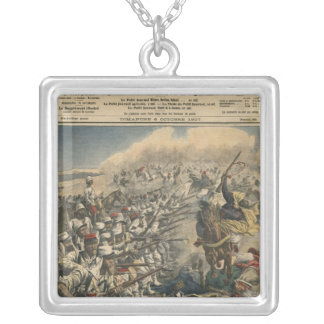 Elitsoldater av den franska armén, utländsk fransk silverpläterat halsband