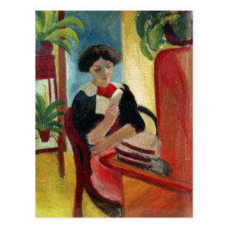 Elizabeth läsning vykort