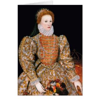 """Elizabeth mig av England (""""det Darnley porträtt"""") Hälsningskort"""