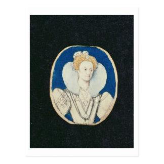 Elizabeth mig, miniatyrporträtt, (som är vykort