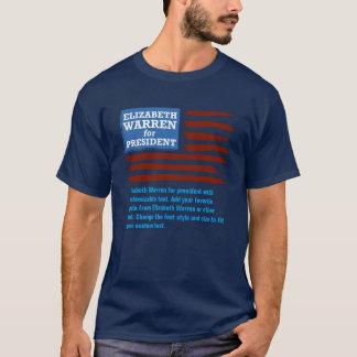 Elizabeth Warren för president med anpassade Tee Shirts