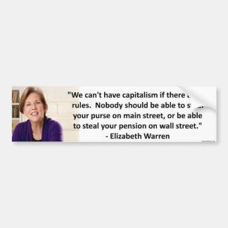 Elizabeth Warren - kapitalism Bildekal