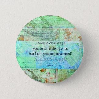 Elizabethan konst för rolig Shakespeare Standard Knapp Rund 5.7 Cm