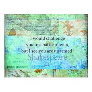 Elizabethan konst för rolig Shakespeare Vykort