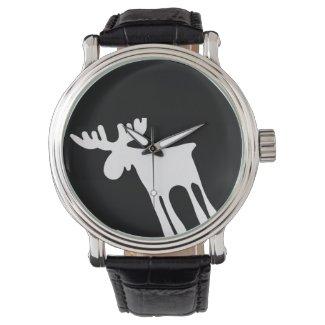 Älg / Moose, vit