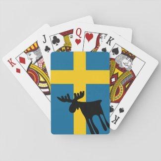 Älg / Moose med Svenska flaggan