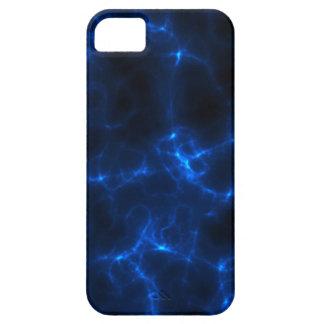 Elkraften chockar i mörk - blått iPhone 5 Case-Mate skal