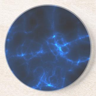 Elkraften chockar i mörk - blått underlägg sandsten