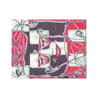 Elkraften ler väggkonst (för slågen in kanfas) canvastryck