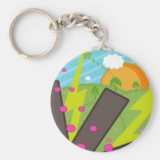 Elkraften sätter in Keychain Rund Nyckelring