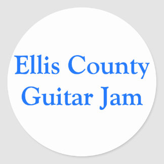 Ellis County gitarrsylt Runda Klistermärken