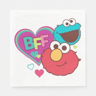 Elmo & kakamonster - BFF Servett