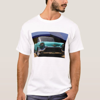 Elvis Presley grön Cadillac cabriolet in T-shirt