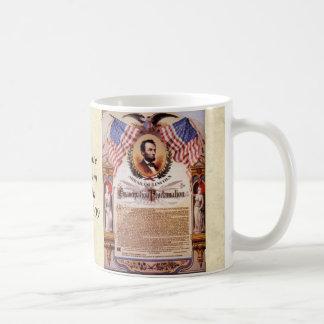 Emancipationkungörelsetributen till Lincoln Kaffemugg