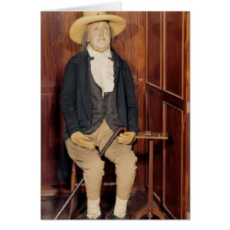 Embalmed förkroppsligar av Jeremy Bentham Hälsningskort