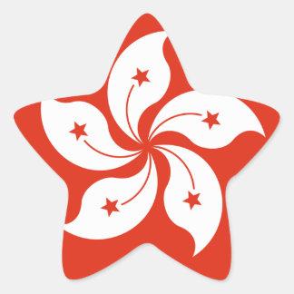 Emblem av Hong Kong - 香港特別行政區區徽 Stjärnformat Klistermärke