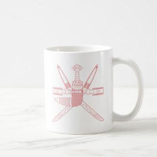 Emblem av Oman - omansk vapensköld Kaffemugg
