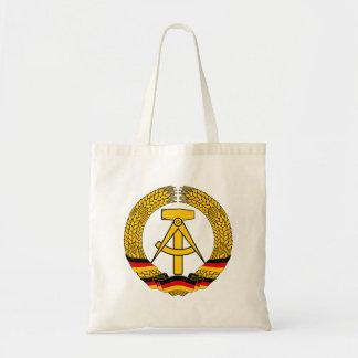 Emblem der DDR - medborgareemblemen av GDREN Budget Tygkasse