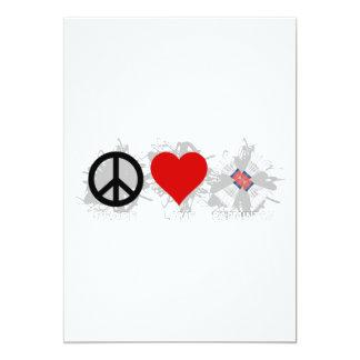 Emblem för fredkärlekBadminton 12,7 X 17,8 Cm Inbjudningskort