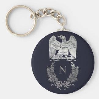 Emblem för Napoleon Emblemörn Rund Nyckelring