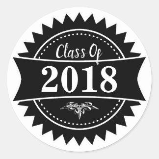Emblem klassificerar av 2018 runt klistermärke