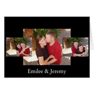 Emilee och Jeremy Hälsningskort