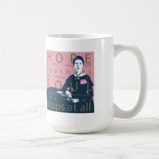 Emily Dickinson hopp är saken med fjädrar Kaffemugg