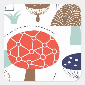 Emma Janeway plocka svamp samlingen Fyrkantigt Klistermärke