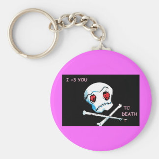 """Emo döskallar & hjärtor: """"Älskar jag dig åtfölja Rund Nyckelring"""