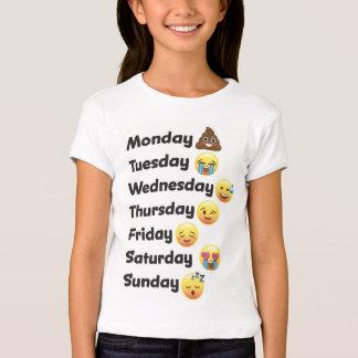 Emoji dagar av veckaskjortan t shirt