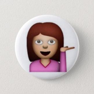 Emoji flicka standard knapp rund 5.7 cm