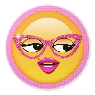 Emoji Flirty flicka ID227 Knopp