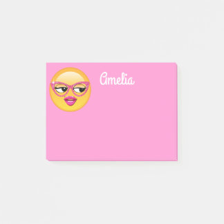 Emoji Flirty flicka ID227 Post-it Lappar