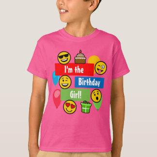 Emoji födelsedagflicka tee